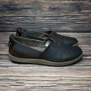 Merrell Ashland Leather Slip On Sz 8 Coffee Bean